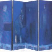 interstizi 2000 olio su tavola 4 pannelli cm150x200