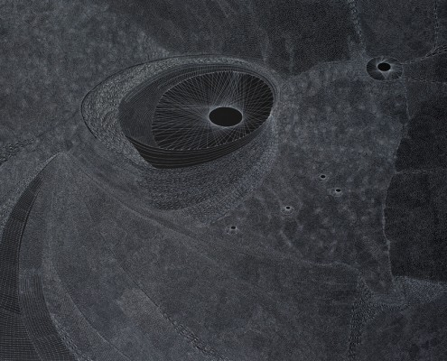 x Ettore Majorana 2012 acrilico su tela 200x280 cm
