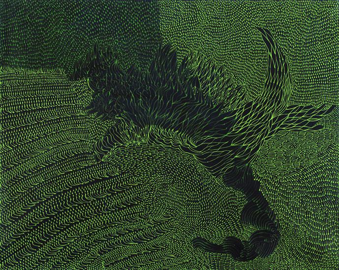 Teresa Iaria - Zoomorphic Code 2014- acrylic on canvas- cm 120x150 ridottaper web